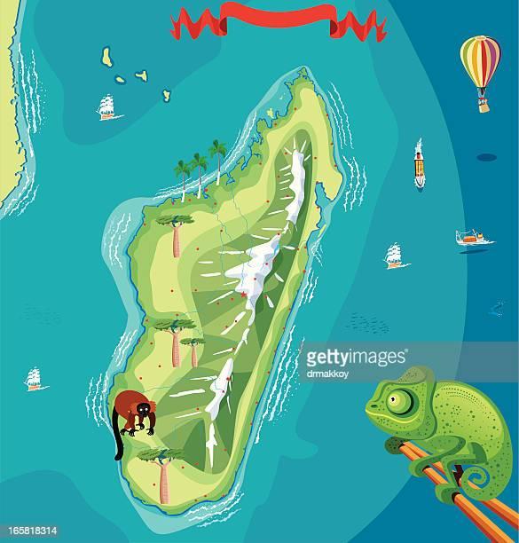 madagascar map - madagascar stock illustrations, clip art, cartoons, & icons