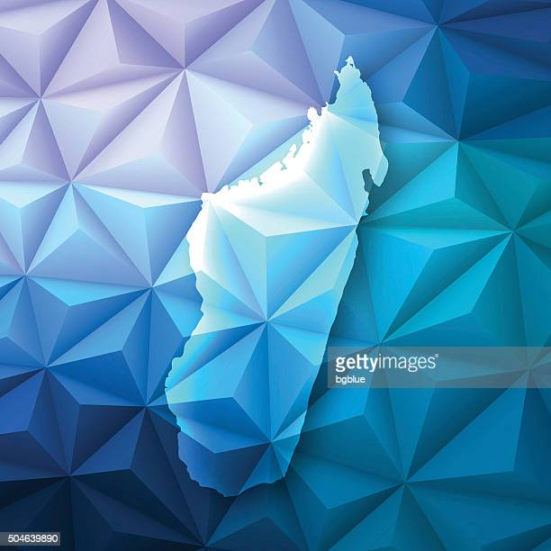 madagascar on abstract polygonal background - low poly, geometric - antananarivo stock illustrations, clip art, cartoons, & icons