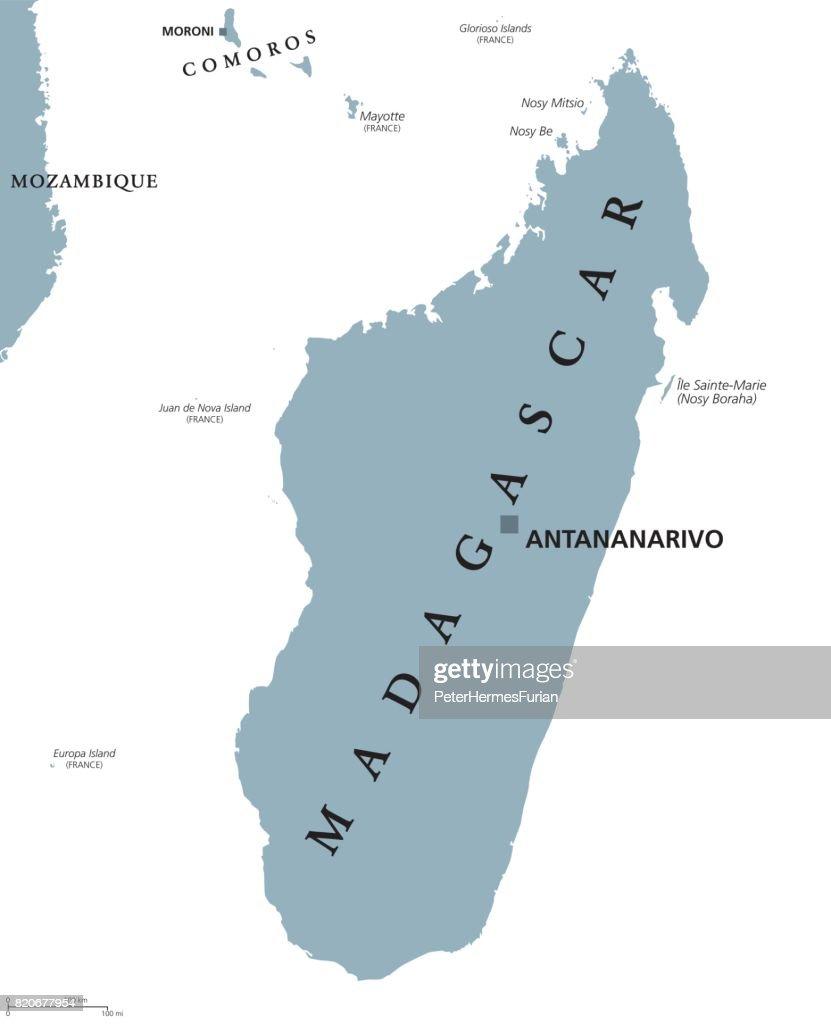 Madagaskar Karte.Politische Karte Von Madagaskar Vektorgrafik Getty Images