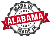 made in Alabama round seal