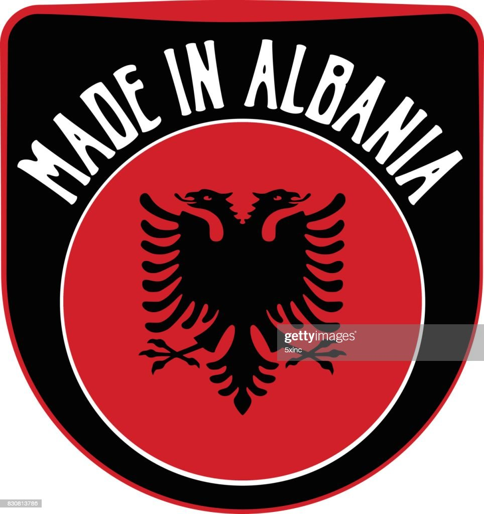Made in Albania sign