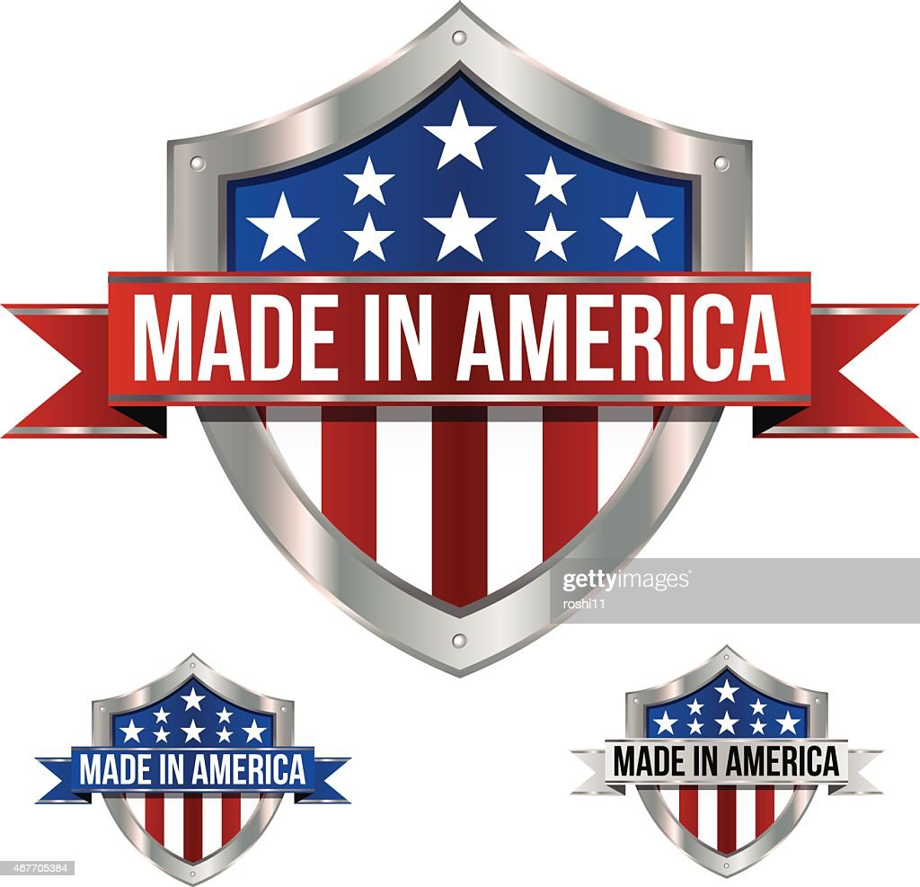 Made in America Shield and Banner