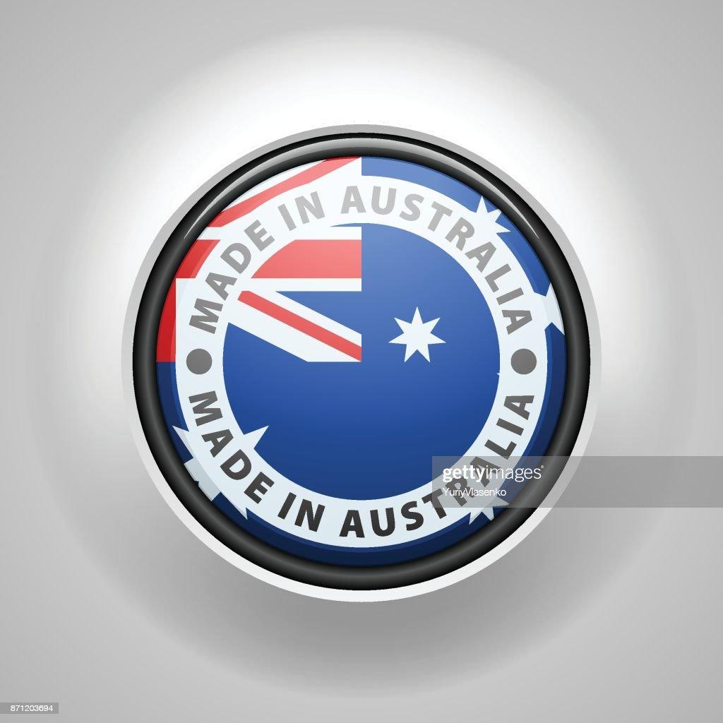 Made in Australia label illustration