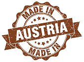 made in Austria round seal