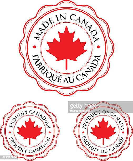 made in canada badges - canada stock illustrations
