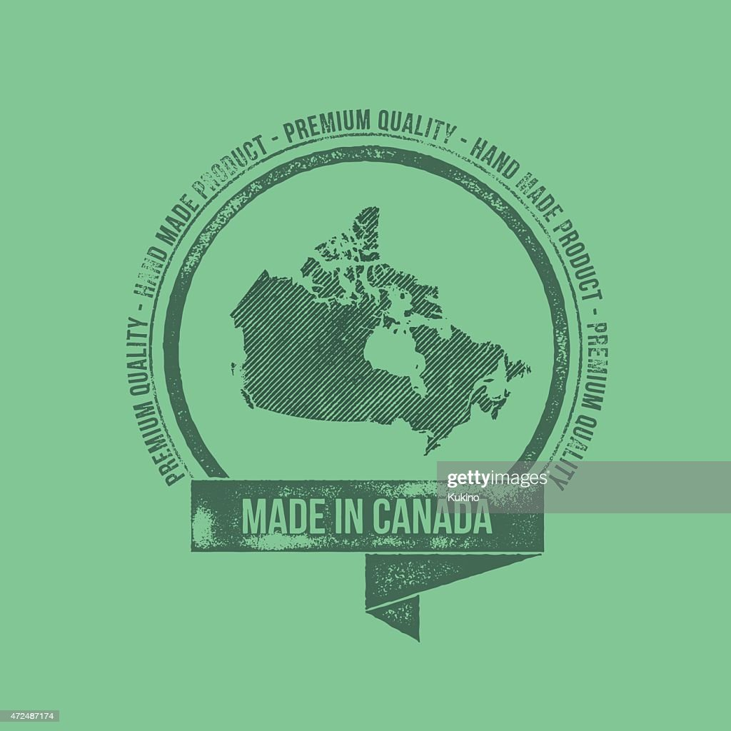Made in Canada Retro Vintage Dirty Badge Label