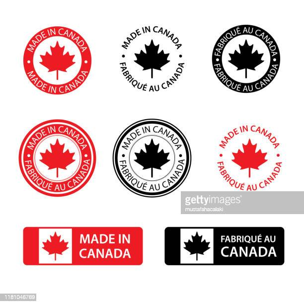 made in canada stamps - canadian culture stock illustrations