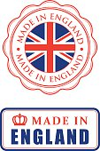Made in England rubber stamps