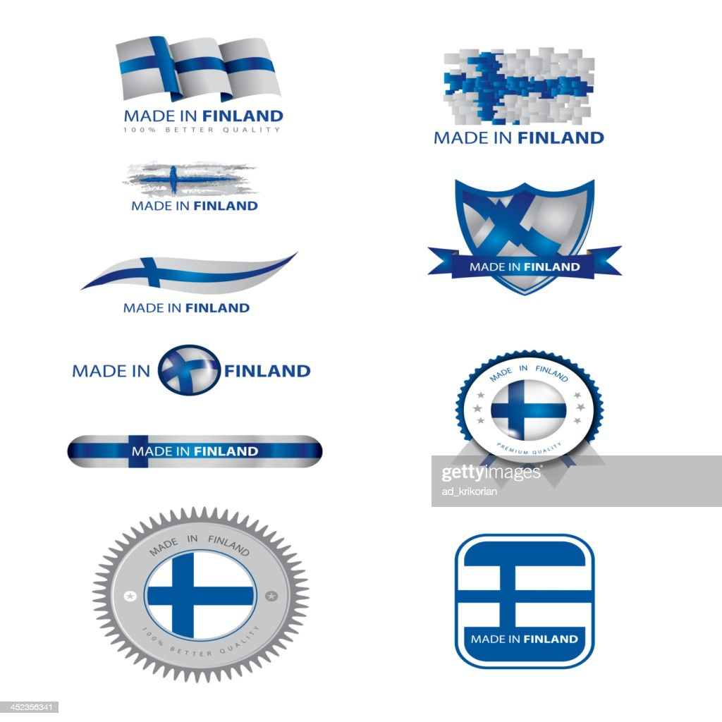 made in Finland, finnish flag, seals