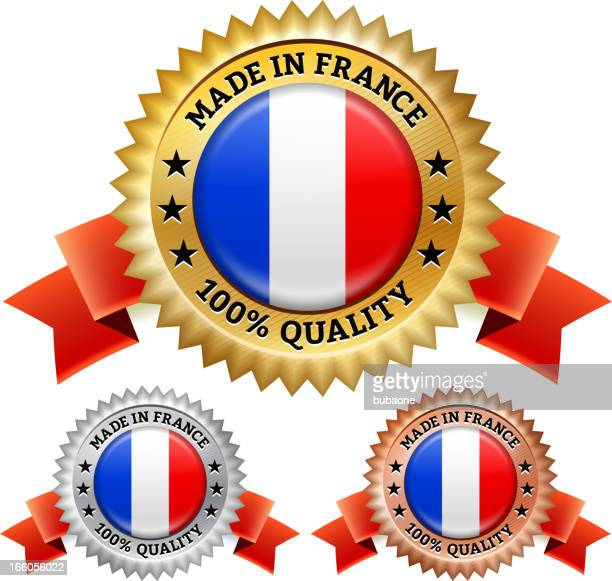 Made in France Badge royalty free vector icon set