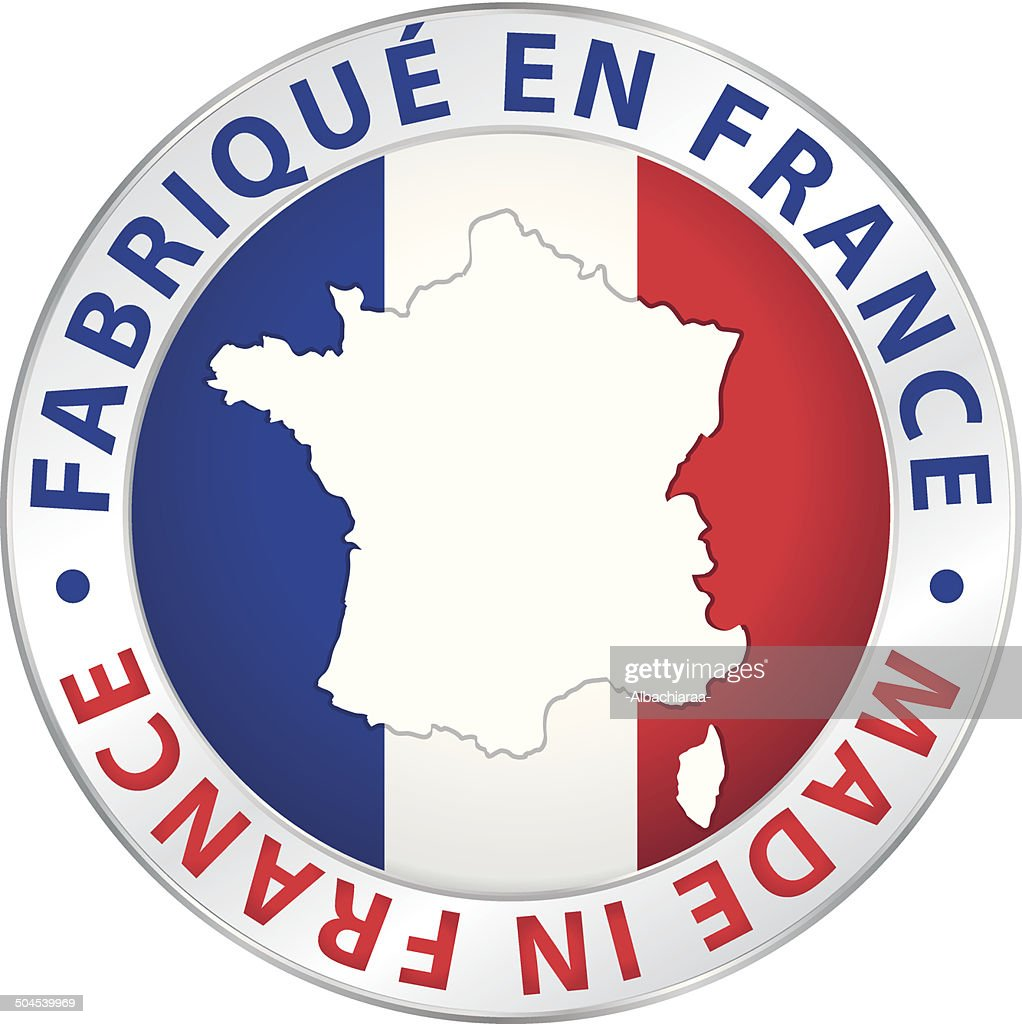 Made in France. Guaranteed vector label.