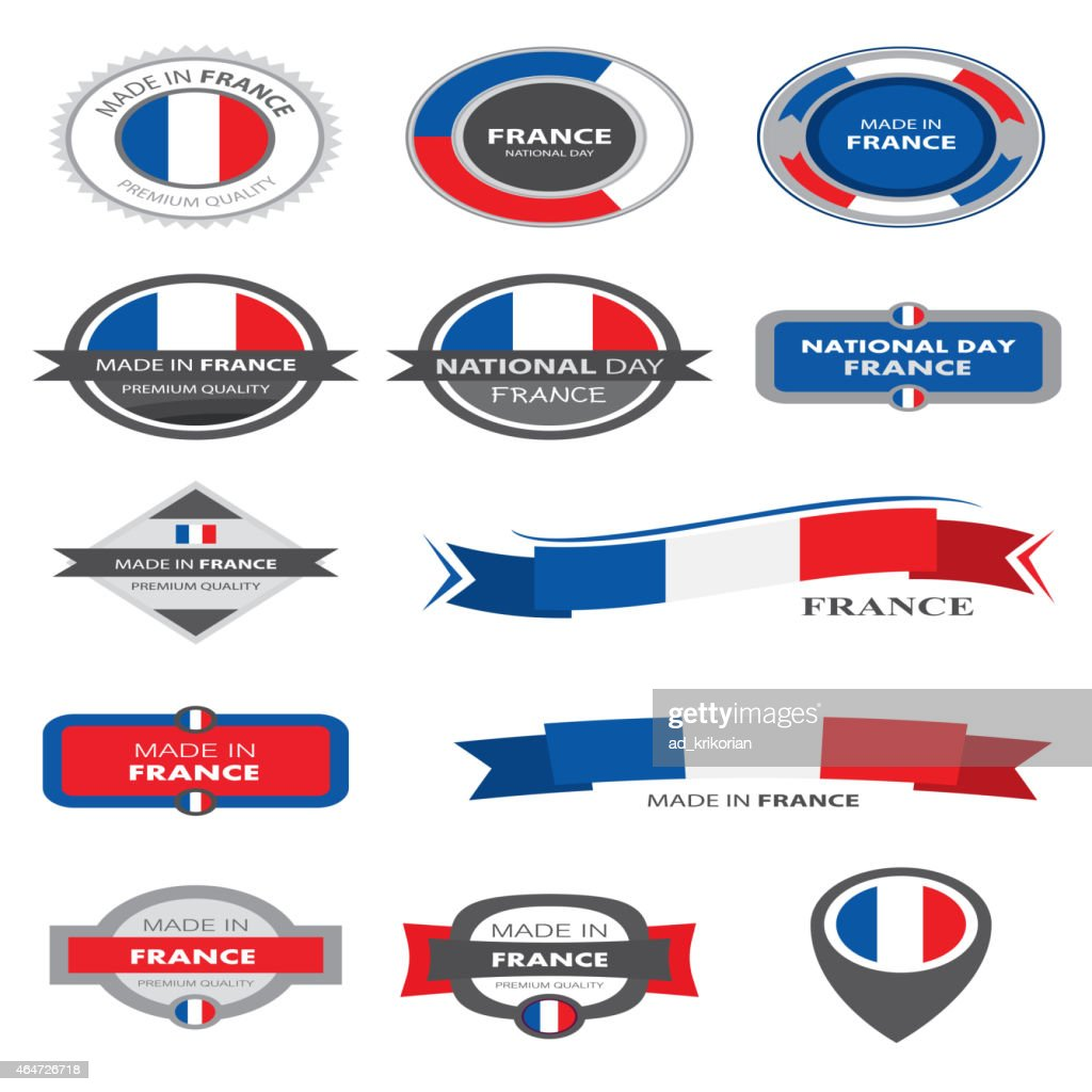 Made in France Seal Collection, French Flag (Vector Art)
