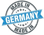 made in Germany blue round vintage stamp