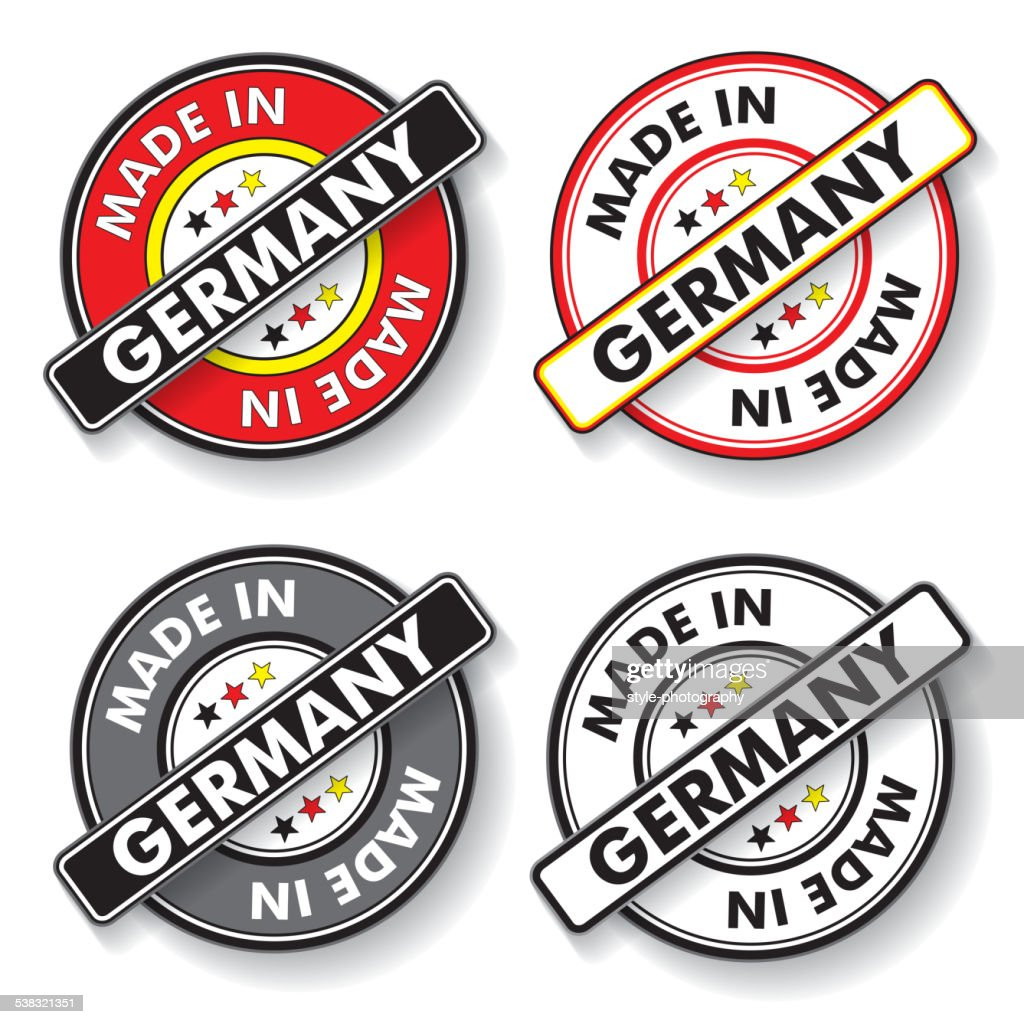 Made In Germany Stickers National Colors