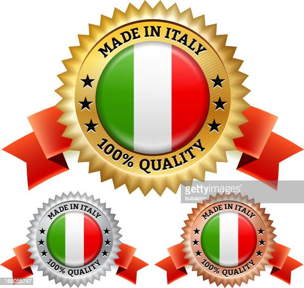 Made in Italy Badge royalty free vector icon set