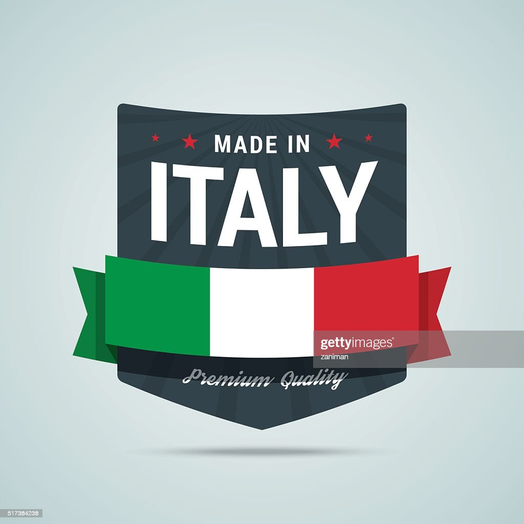 Made in Italy badge.