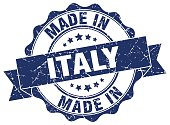made in Italy round seal