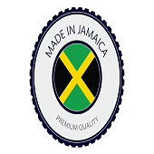 Made in Jamaica Seal, Jamaican Flag (Vector Art)