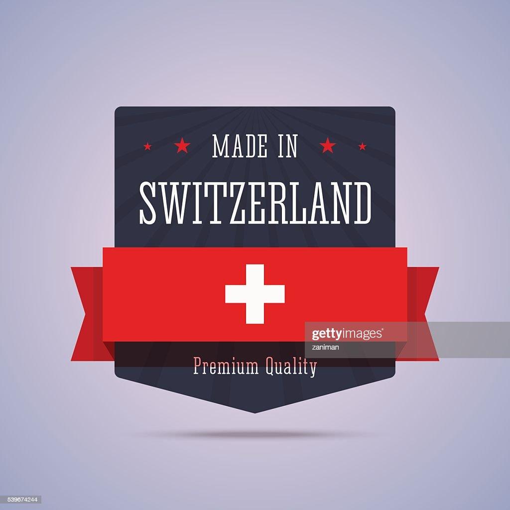 Made in Switzerland badge.