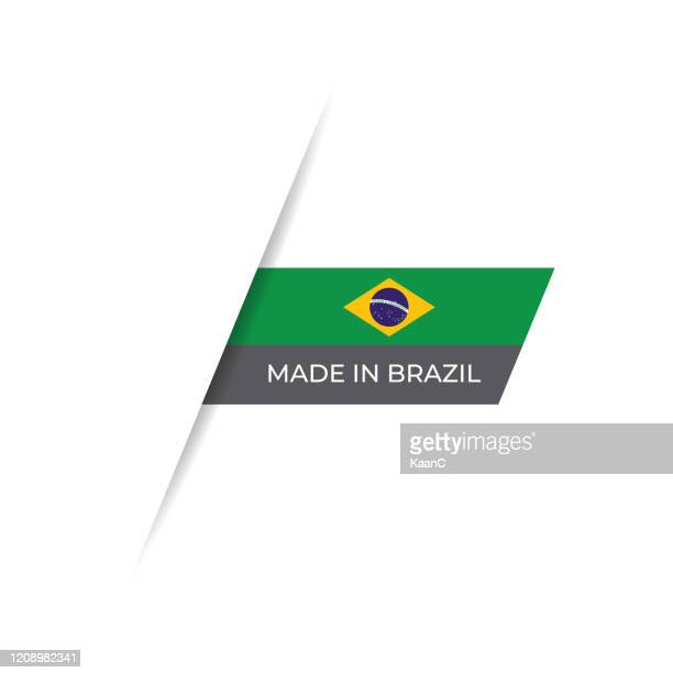 made in the brazil label, product emblem stock illustration - brazil stock illustrations