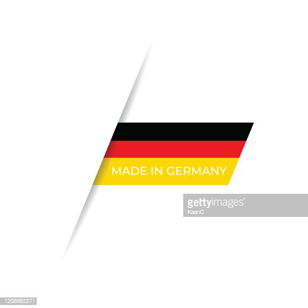 made in the germany label, produktemblem stock illustration - deutsche flagge stock-grafiken, -clipart, -cartoons und -symbole