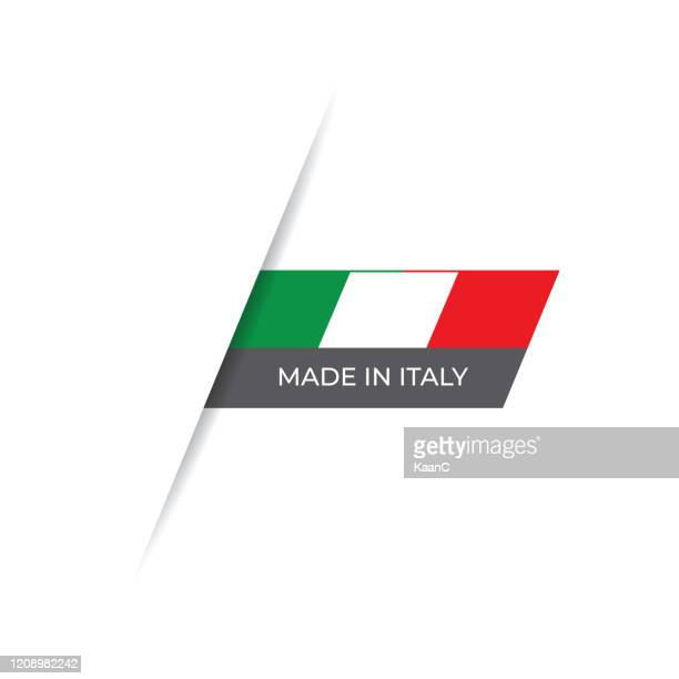 made in the italy label, product emblem stock illustration - italian flag stock illustrations