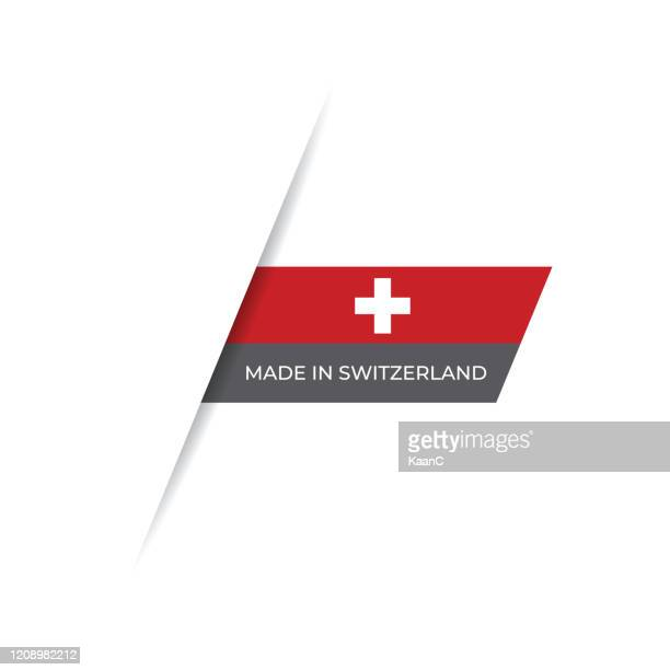 made in the switzerland label, product emblem stock illustration - swiss culture stock illustrations