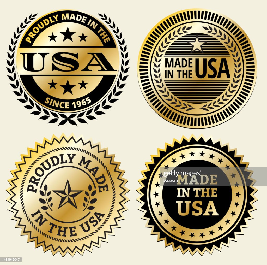 Made in the usa black and gold badge set vector art getty images made in the usa black and gold badge set vector art buycottarizona