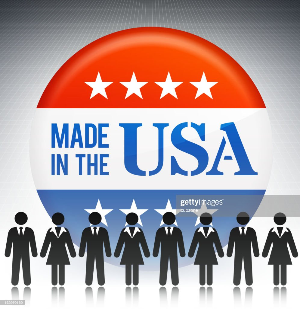 Made in the USA Business Concept Stick Figures