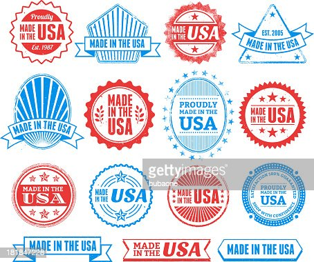 Made In The Usa Grunge Badge Set Vector Art Getty Images