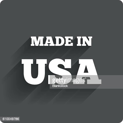 Made In The Usa Icon Export Production Symbol Vector Art Getty Images
