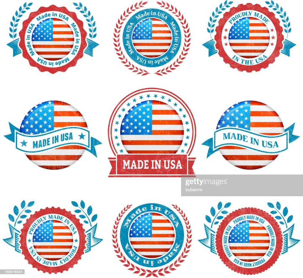 Made in the usa patriotic badge vector icon set vector art getty made in the usa patriotic badge vector icon set vector art buycottarizona
