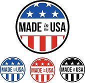 Made in the USA Sticker