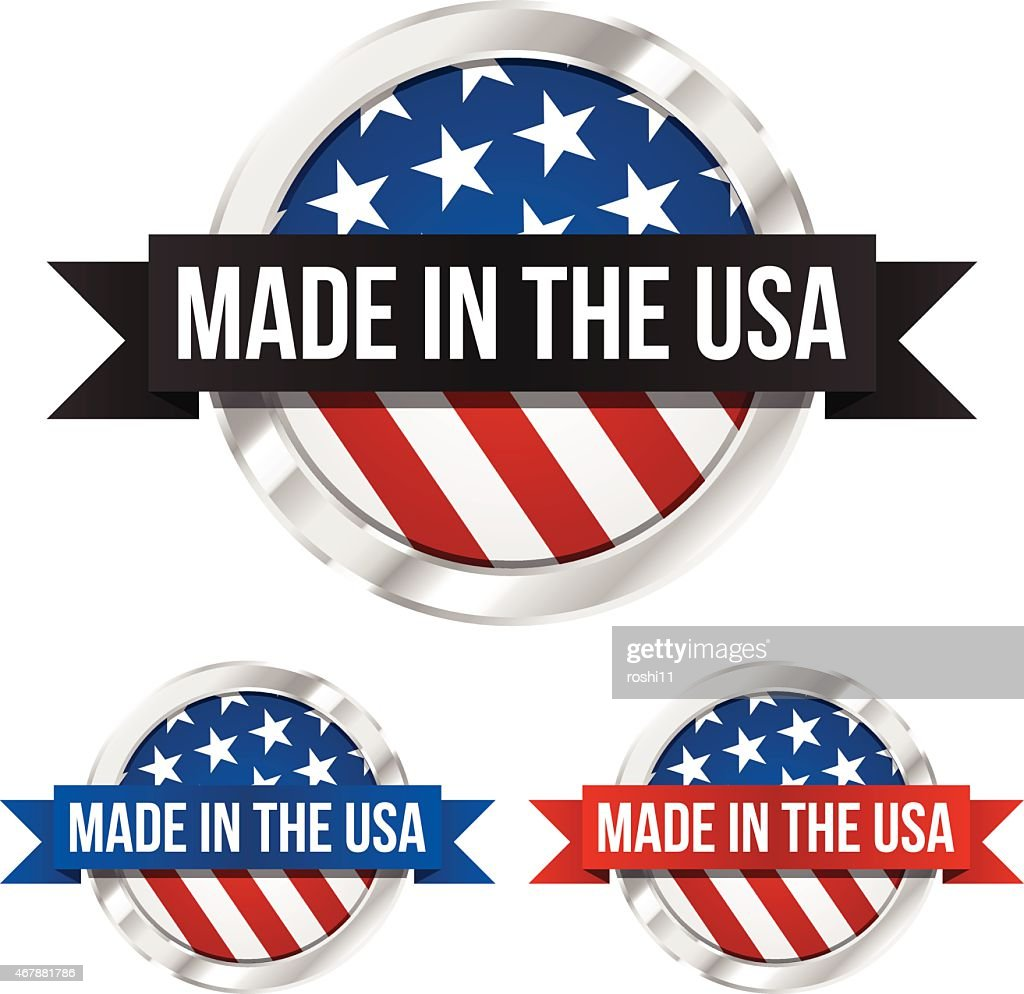 Made in the USA Symbol and Banner