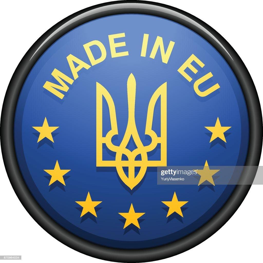 Made in Ukraine Label Illustration