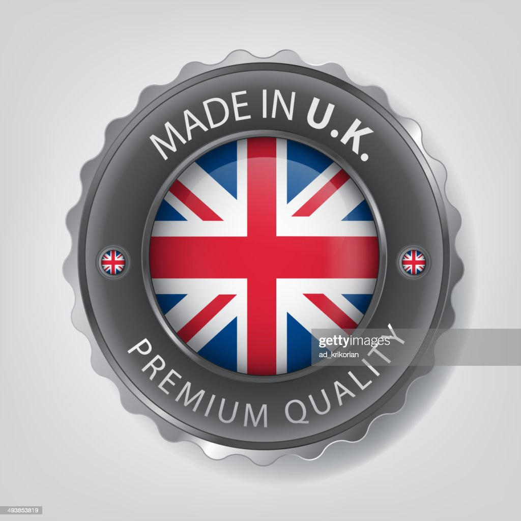 made in United Kingdom seals,UK Flag (vector Art)