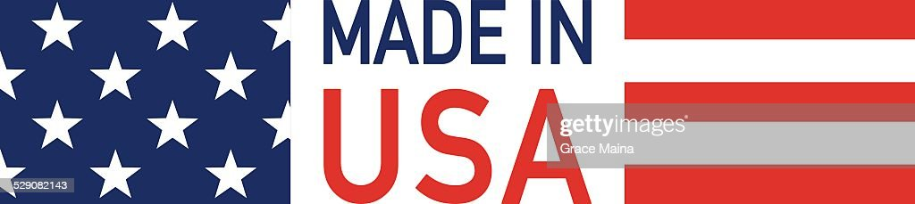 Made in USA flag - VECTOR