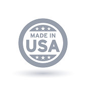 Made in USA icon. American product symbol.