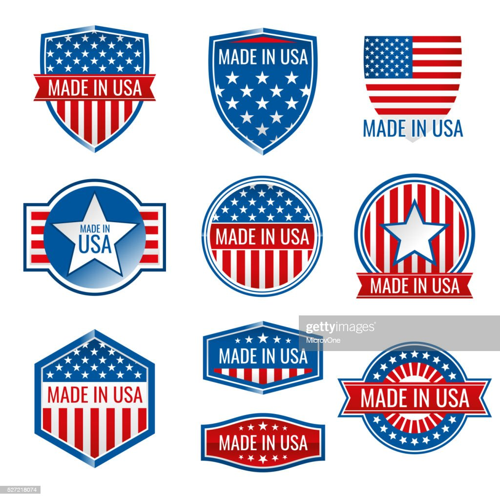 Made in USA vector icons