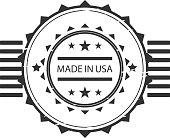Made in USA. Vector illustration