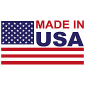 Made in USA with flag icon
