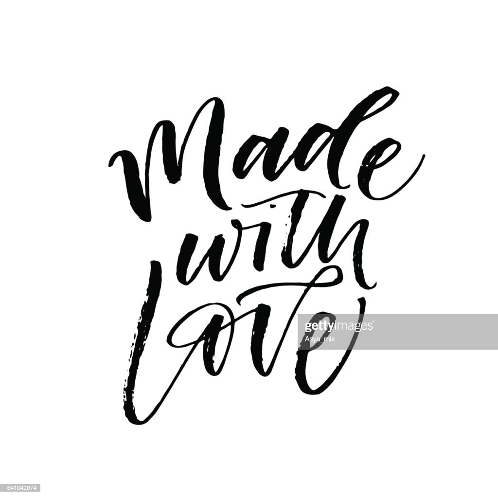 Made with love postcard.