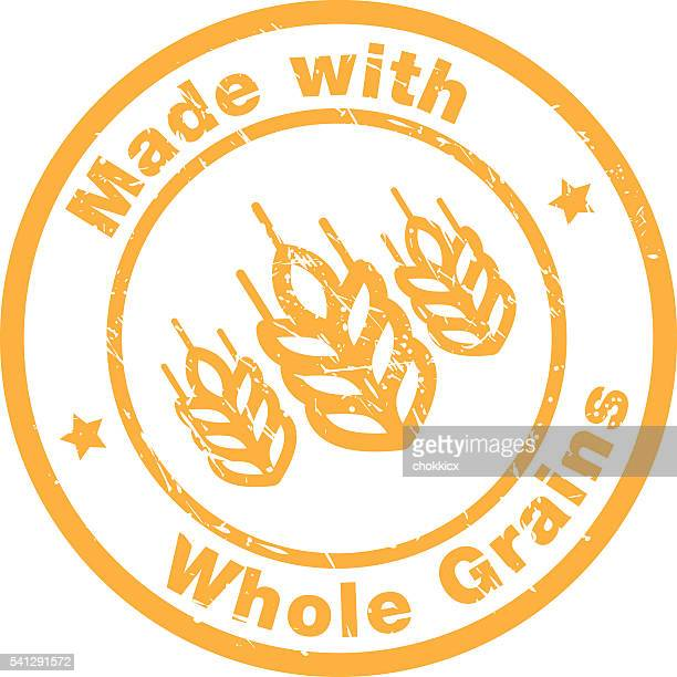 made with whole grains - whole stock illustrations, clip art, cartoons, & icons