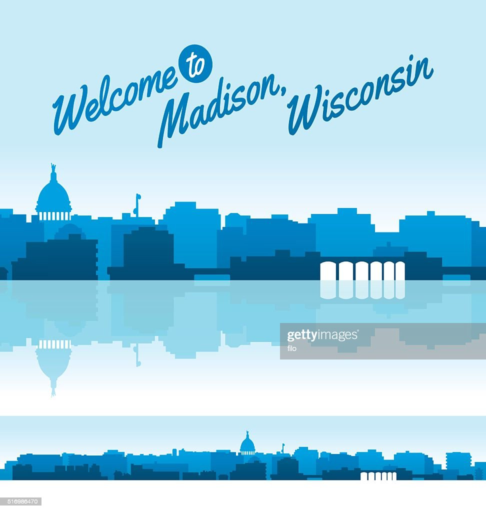 madison wisconsin skyline vector art getty images