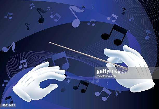 ilustraciones, imágenes clip art, dibujos animados e iconos de stock de maestro - director de orquesta