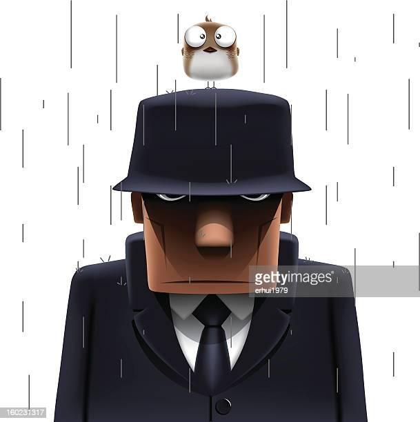 ilustraciones, imágenes clip art, dibujos animados e iconos de stock de mafia - stealth