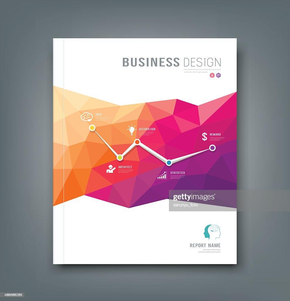 Magazine geometric shapes info-graphic