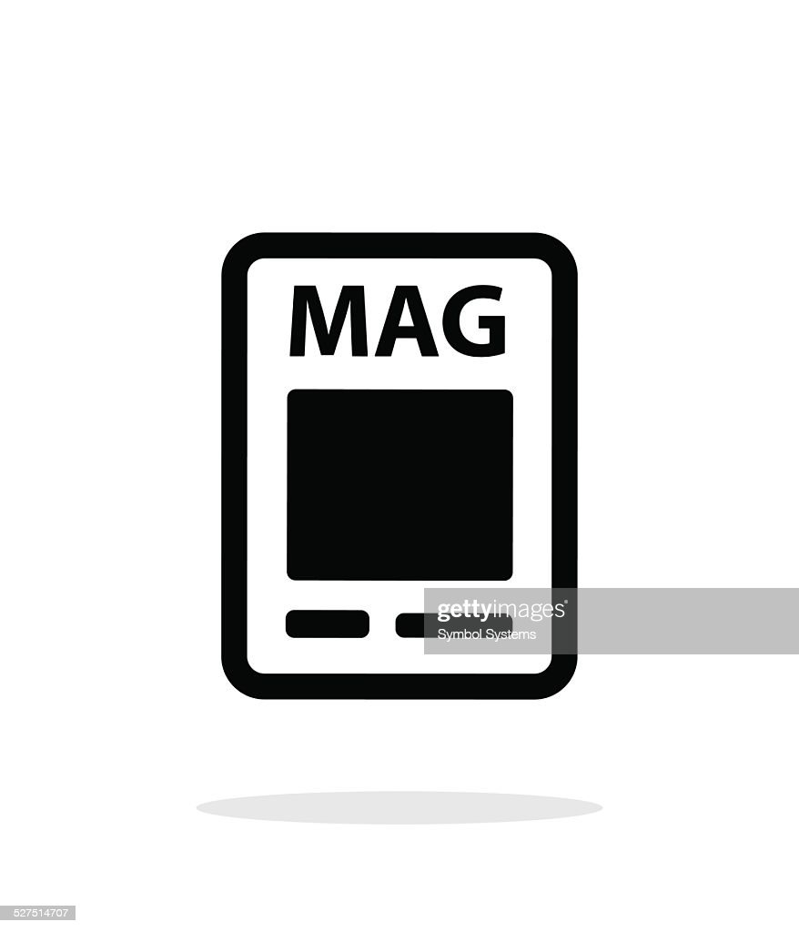Magazine icon on white background.
