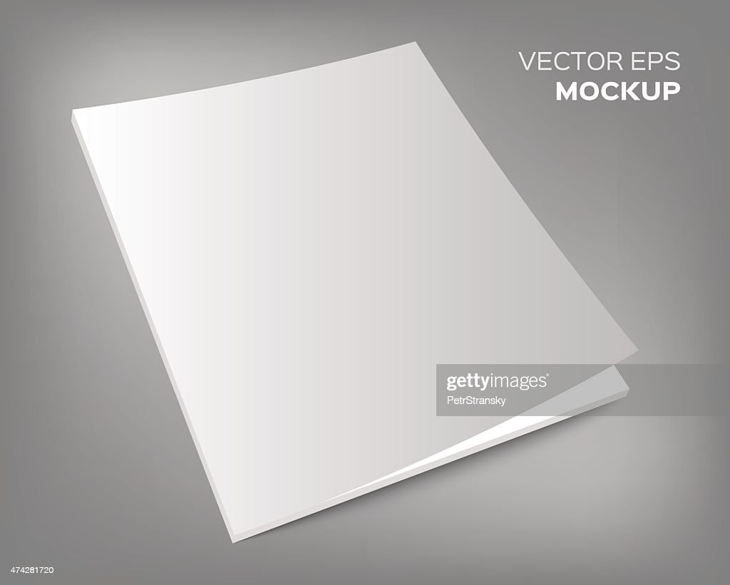 magazine mockup on grey background