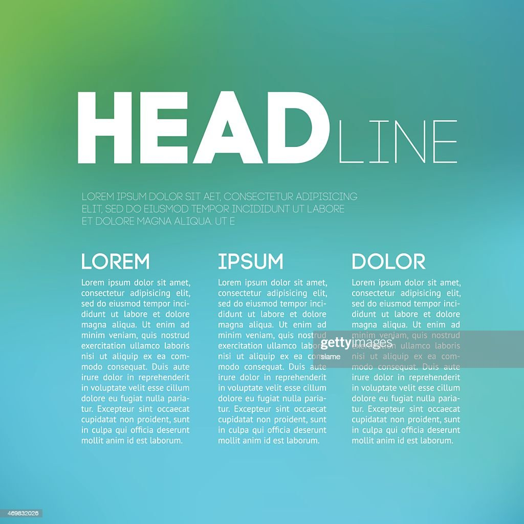 Magazine page layout with room for a headline and body text